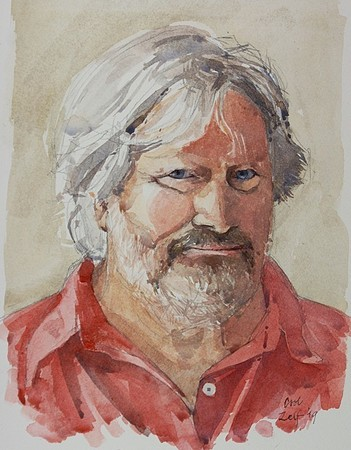 Albert-Jan Cool - Zelfportret in aquarel - 2019